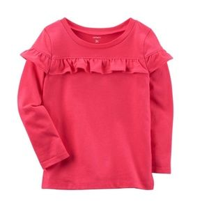 Carter's reddish ruffle top 2T